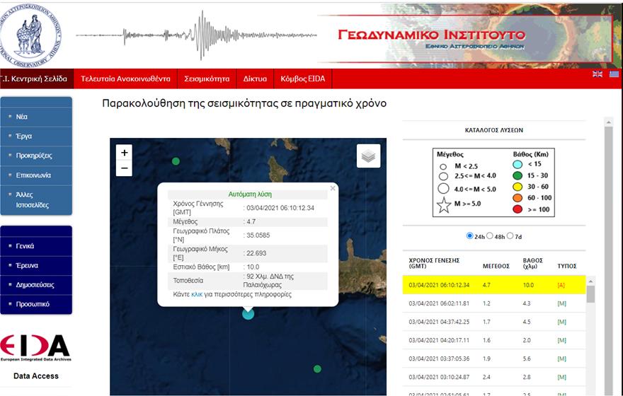 Σεισμός Χανιά